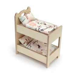 A small bunk bed