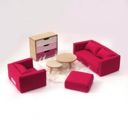 Living room set - L pink