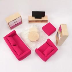 Living room set - XL pink